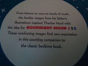 Goodnight Moon 1 2 3 A Counting Book by Roberta Brown Ranch Kingston Kingston Area image 3