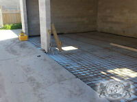 From concrete pads and footings to poured walkways, we are cemen