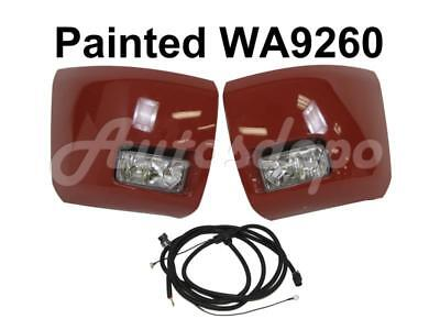 Painted WA9260 Front Bumper End Cap Fog Light Harness For Silverado 1500 2008-13