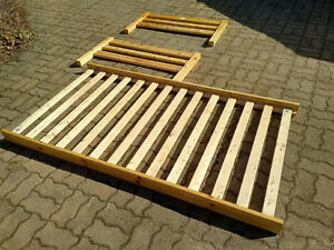 Kids single solid wood bed frame used