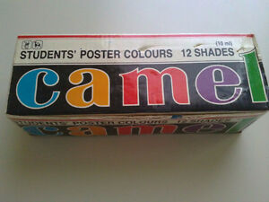 Camel pack of 12 poster paint colours