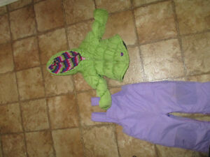 Girls snow pants and coat, size 18 months