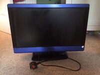 """Technica 23"""" tv and DVD combi in blue"""