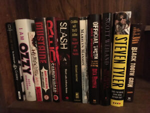 Rock/Metal Autobiography Books Like New 12 In Total