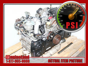 JDM SUBARU WRX EJ20 EJ205 2.0L DOHC TURBO ENGINE, 02-05