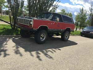 1984 Dodge Ramcharger 4X4 $2200 Firm