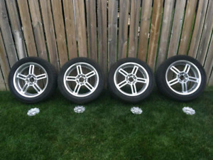 """17"""" Rims/Tires for sale or trade for 16"""""""