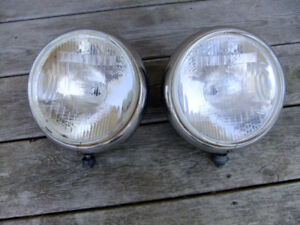 Vintage 9 INCH Cibie Oscar Giant Driving HEADLAMPS Powerful