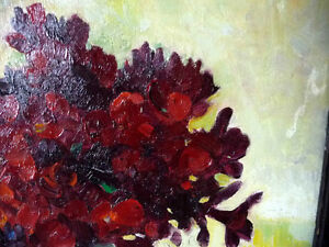 "Original, British Still Life by E. H. Mooney, ""Red Flowers"" Stratford Kitchener Area image 7"