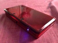 Red Nintendo 3DS with Charger