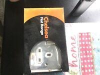 Chrome double plug socket
