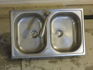 Stainless Steel Double Kitchen sink with Faucet