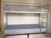 IKEA - Strong Bunk Bed Frame - with mattresses - self assembly instructions - Excellent Condition