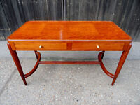 Antique Art Deco style Writing Dressing Table Desk with Glass Top