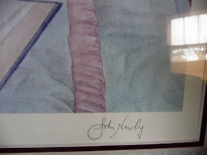 "Hand Signed Lithograph by Listed Artist John Newby ""Book Ends"" Stratford Kitchener Area image 5"