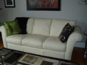 Leather Coach,Loveseat,chair set