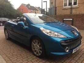 Peugeot 207 1.6 THP 150 GT COUPE CONVERTIBLE (blue) 2008