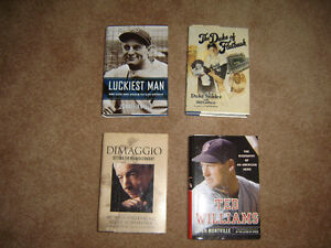 Hardcover baseball books for sale