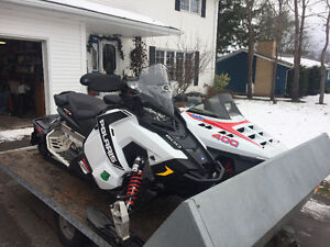 2015 Polaris 600 Rush Pro-S and 1989 Polaris 400 Indy