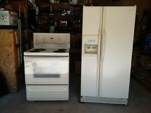 Side by Side fridge / Stove $275 for set.
