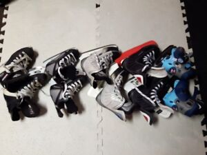 Youth Skates and equipment- various sizes