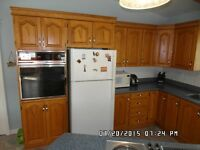 Oak Cabinets with appliances