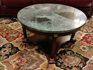 Marble and wood coffee table - Bombay Company