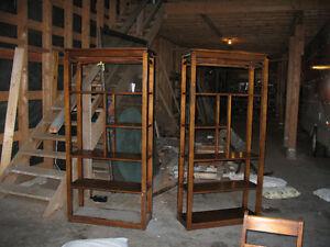 antique bookcases/shelves
