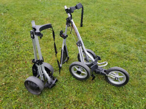 NEW REDUCED PRICE!  2 golf bag  carts $150 for both.
