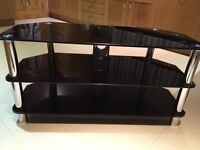 "Glass 3 Tier TV Stand 18"" x 41.5"""