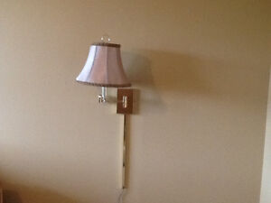 2 solid  brass wall lamps - beautiful and functional