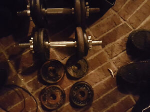 50 pound york barbell dumbell set Cambridge Kitchener Area image 1