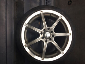 Aluminum rims with tires