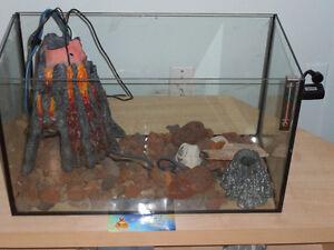 Aquarium and volcano accesories