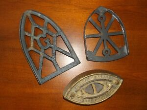 Antique SADD Iron and Trivets