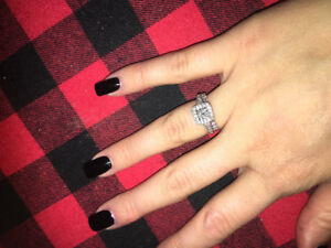 Canadian diamond wedding set $1000.00