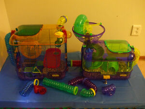 2 CRITTERTRAIL HABITATS, ACCESSORIES  HAMTRACK... ALL FOR $80