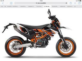 Ktm smc690r new bike part ex
