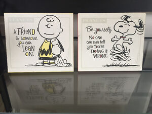 Hallmark Peanuts plaques and notepad Kingston Kingston Area image 1
