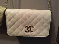 Chanel cream purse