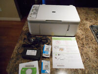 HP 3 in 1 printer, copier, scanner, with extra ink cartriges