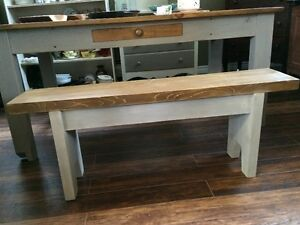 HANDCRAFTED CEDAR BENCH GREY BASE - GORGEOUS!! Kitchener / Waterloo Kitchener Area image 1