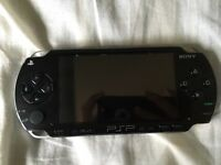 Sony PSP, with case and 4 games