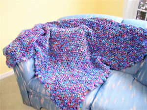 Handmade Retro-Style Triangle Wool Blend Shawl, ON SALE!