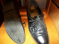 Men's Black Leather Shoes.