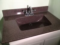 Cultured Granite Moulded Sink & Countertop
