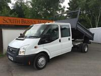 2013 13 FORD TRANSIT 2.2 TDCi 100PS RWD 350L DOUBLE CAB TIPPER LWB DRW ONLY 40K