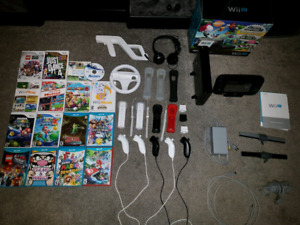 HUGE Wii U Bundle With 18 games, controllers and accessories!!!