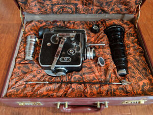 BOLEX H16 16mm film camera +lenes Angenieux 12-120mm Switar 25mm