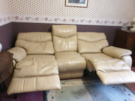 Recliner Leather 3 Seater Sofa